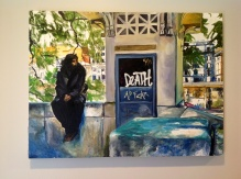 """Reaper in Rome"" 18x24 2015 oil on exhibition canvas SOLD"