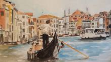 """Canal Grande"" Watercolor on paper 2015 SOLD"