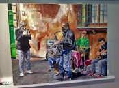 """Jazz Strada"" 24X30 Oil on Exhibition Canvas 2015. SOLD"