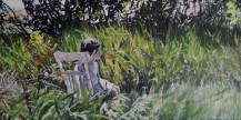 """""""Waiting"""" 18x30 Oil on exhibition canvas painted in 2015 $1050"""