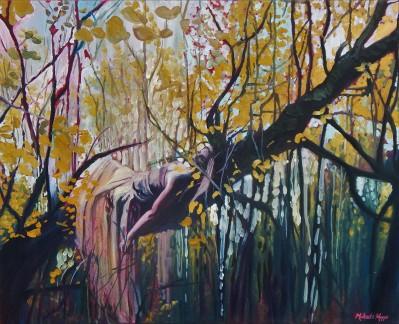 """""""Autumn Languish"""" 24X30 OIL ON CANVAS SOLD"""