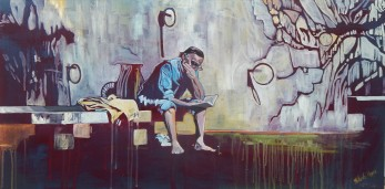 """The Reader"" 18x30 Oil on Canvas SOLD"