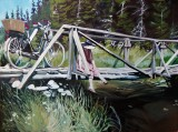 """""""Where The Bears Walk""""18x24 oil on cradle board $1200 Available through Boheme Gallery, Saskatoon"""