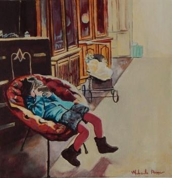 """Antique Store""10x10 acrylic on exhibition canvas $300 Available through Boheme Gallery, Saskatoon"