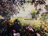"""""""Another Flower in the Garden"""" 36x48 oil on exhibition canvas $3250 Available at Dervilia Design, Saskatoon"""