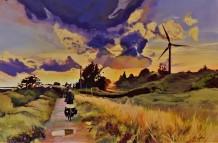 """Sunset by the Thames"" 24x36 acrylic on exhibition canvas $1700 Available through Boheme Gallery, Saskatoon"
