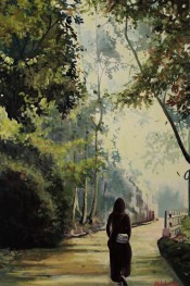 """The First Step"" 24x36 oil on exhibition canvas $1700"