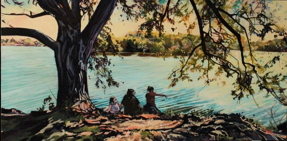 """""""Wascana"""" 18x30 acrylic on exhibition canvas SOLD"""