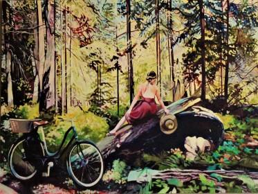 """Dapple"" 36x48 Oil on Exhibition Canvas $3250 Available at Dervilia Design, Saskatoon"