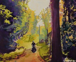 """Forest Road"" 8x10 Acrylic on Exhibition Canvas SOLD"