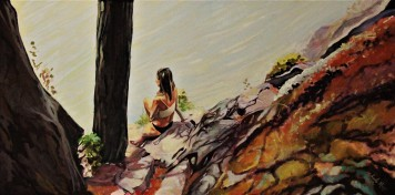 """""""Somewhere Only We Know"""" 18x30 Oil on Exhibition Canvas $1250"""
