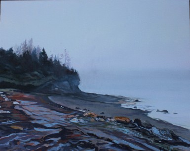 """""""Misty Morning"""" 18x20 oil on exhibition canvas painted in 2018 SOLD"""