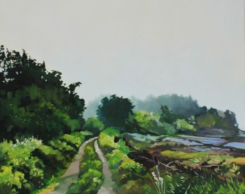 """""""Road to Treasure"""" 24x30 oil on exhibition canvas painted in 2018 $1500 AVAILABLE THROUGH BOHEME GALLERY"""