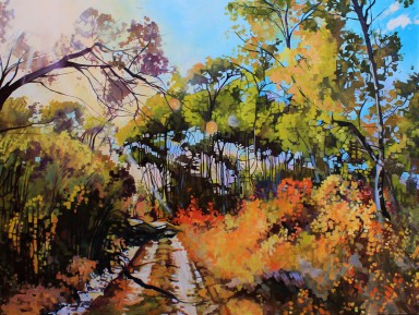 """Autumn Madness"" 36x48 oil on exhibition canvas $3250 Available through Boheme Gallery, Saskatoon"