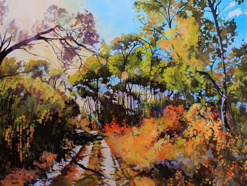 """""""Autumn Madness"""" 36x48 oil on exhibition canvas $3250"""