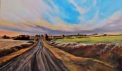 """Volunteer Canola"" 36x60 oil on exhibition canvas $3500 Available through Boheme Gallery, Saskatoon"