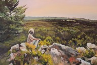 """""""From Her Perspective"""" 24x36 oil on exhibition canvas. $1700 Available through Boheme Gallery, Saskatoon"""