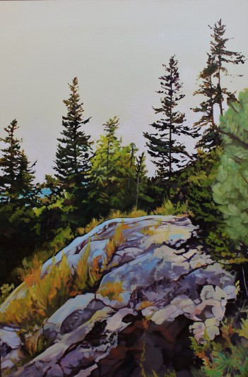 """""""Lookout"""" 24x36 oil on exhibition canvas painted in 2018. $1700 Available through Boheme Gallery, Saskatoon"""