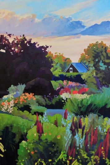 """Sundown at Kingsbrae"" 20x30 oil on exhibition canvas painted in 2018 $1300 Available through Boheme Gallery, Saskatoon"