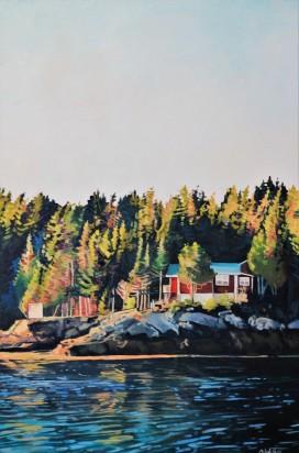 """Home Away From Home"" 24x36 oil on exhibition canvas $1700 Available through Boheme Gallery, Saskatoon"