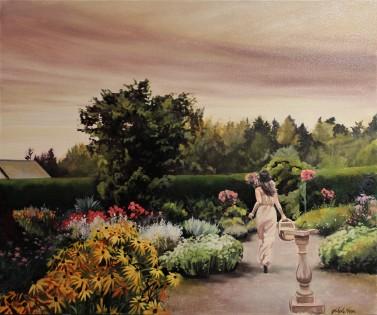 """Through The Glass"" 30x36 oil on canvas $2000 Available through Boheme Gallery, Saskatoon"
