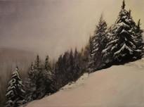 """Quiet"" 18x24 oil on exhibition canvas. $1200"