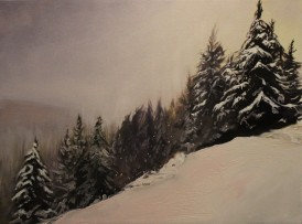 """Quiet"" 18x24 oil on exhibition canvas. $1200"