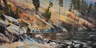 """The Edge"" 18x30 oil on exhibition canvas. $1250 available through Boheme Gallery"