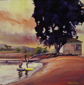 """Aquadeo Beach Walk"" 12x12 oil on canvas $500"
