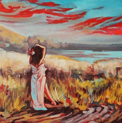 """Breathe"" 12x12 oil on canvas $500"