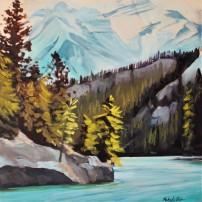 """""""Mountain Lake"""" 12x12 oil on canvas $500"""
