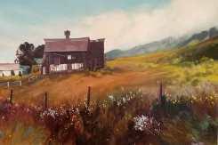 """Sitting Pretty"" 24x36 oil on exhibition canvas $1700"
