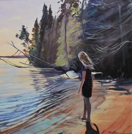 """Annika"" 30x30 oil on exhibition canvas. SOLD"