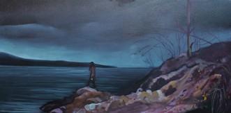"""Insomnia"" 18x30 oil on exhbition canvas. $1250"