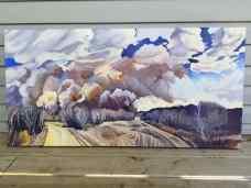 """""""Argo"""" 24x48 oil on exhibition canvas $2200"""