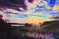 """""""Evening Drama"""" 24x36 oil on exhibition canvas SOLD"""