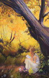 """""""Finding Alice"""" 30x48 Oil on Exhibition Canvas SOLD"""
