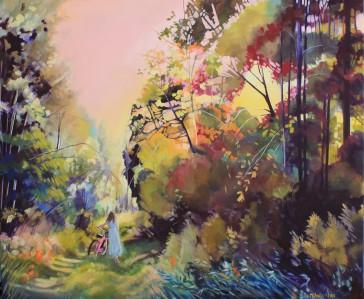 """Late for Tea"" 30x36 oil on cavas $2000"