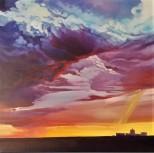 """Battle Royal"" 24x24 oil on exhibition canvas $1250"